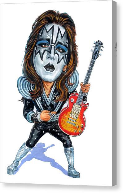 Ace Canvas Print - Ace Frehley by Art