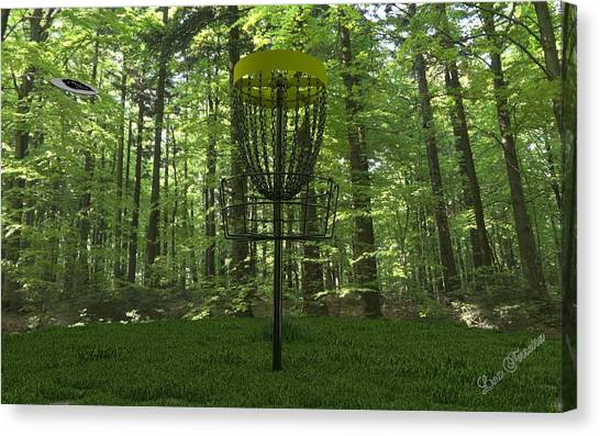 Disc Golf Canvas Print - Ace by Louis Ferreira