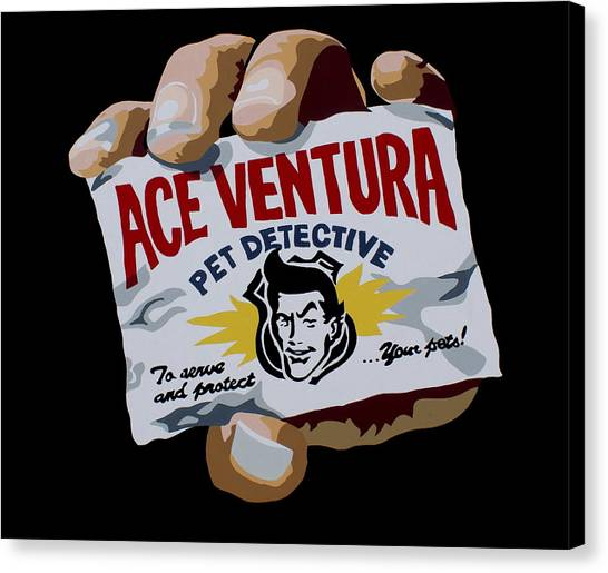 Jim Carrey Canvas Print - Ace Ventura by Ian  King