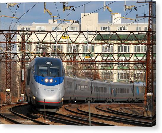 Bullet Trains Canvas Print - Acela by Kurt Von Dietsch