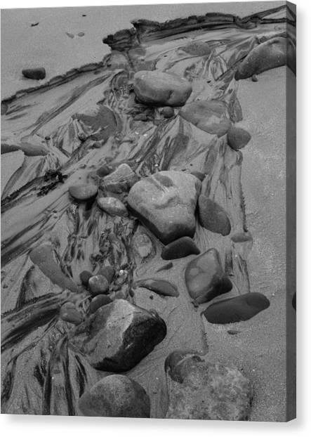 Achnahaird Beach Bw Canvas Print