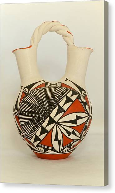 Acoma Pottery Wedding Vase Photograph By Dan Vallo
