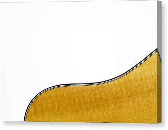 Acoustic Guitars Canvas Print - Acoustic Curve by Bob Orsillo