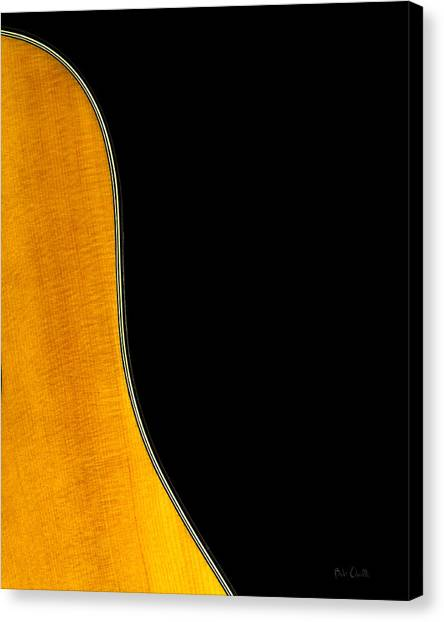 Acoustic Guitars Canvas Print - Acoustic Curve In Black by Bob Orsillo
