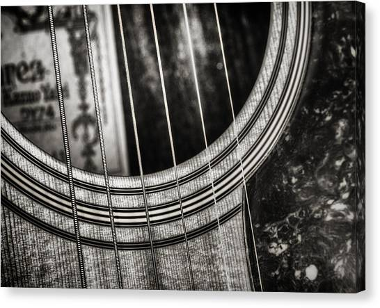Guitar Picks Canvas Print - Acoustically Speaking by Scott Norris