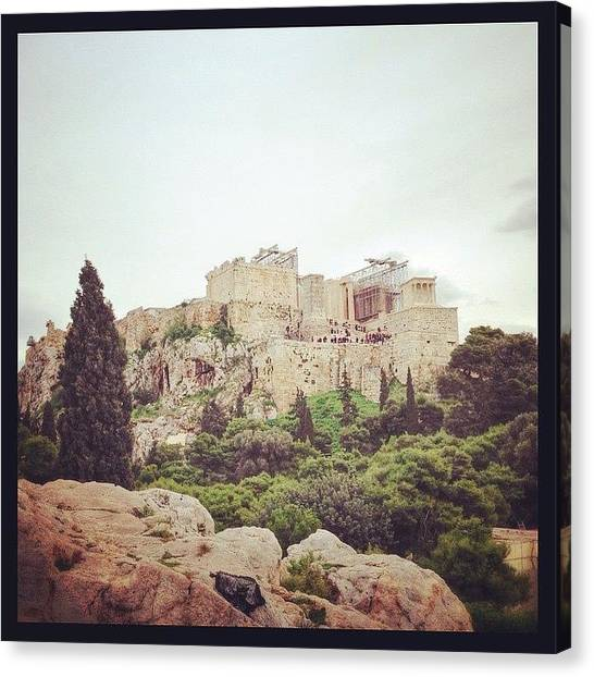 The Acropolis Canvas Print - #acropolis, #2014, #greece, #athens by Kunal Dalvi