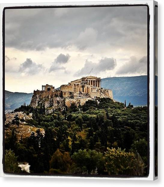The Acropolis Canvas Print - #acropolis #greece #athens #building by Benjamin Donaldson