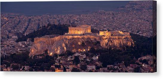 The Parthenon Canvas Print - Acropolis Of Athens, Athens, Attica by Panoramic Images