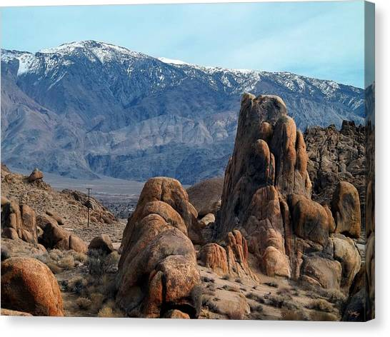 Across Owens Valley - U.s. Highway 395 Canvas Print