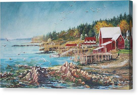 Across The Bridge Canvas Print