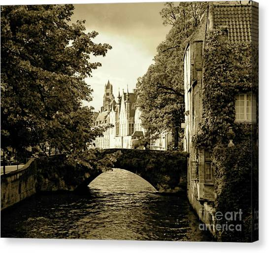 Across The Bridge Canvas Print