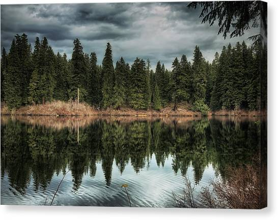Canvas Print featuring the photograph Across The Lake by Belinda Greb