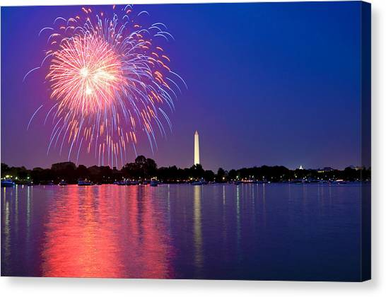 Across The Potomac On The Fourth Canvas Print