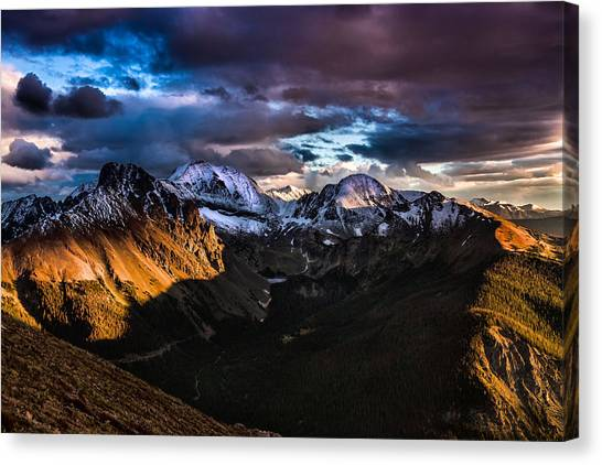 Across The Valley Canvas Print