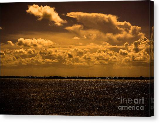 Fort Pierce Canvas Print - Across The Water by Liesl Marelli
