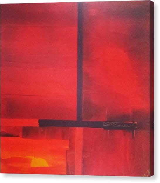 Red Cross Canvas Print - #acrylic #artwork #cross #andreaberg by Dromokratis - Moe Thunderbolt