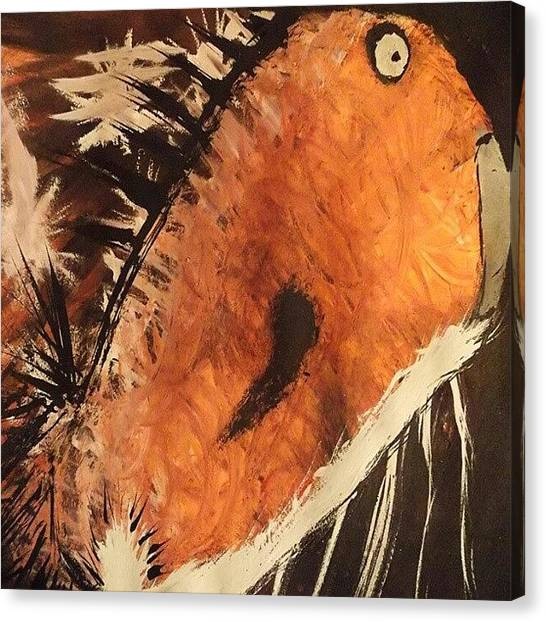Koi Canvas Print - #acrylic #painting #freeformthought by King Da Ling
