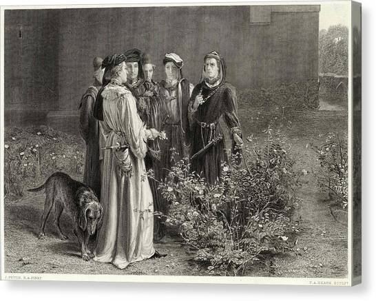 Garden Scene Canvas Print - Act II, Scene Iv, The Temple Garden by Mary Evans Picture Library