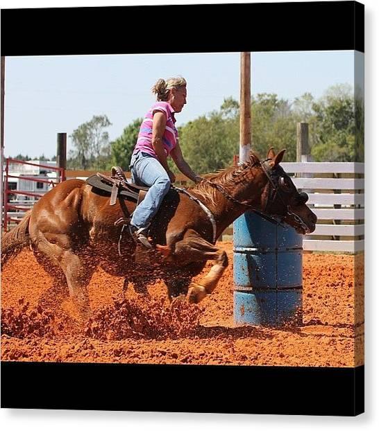 Rodeos Canvas Print - #action #actionshot #barrelhorse by Lisa Yow
