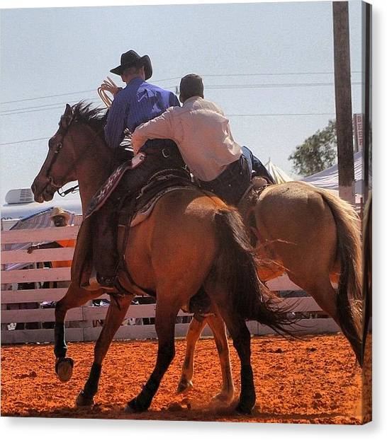 Rodeos Canvas Print - #action #actionshot #pickupman by Lisa Yow