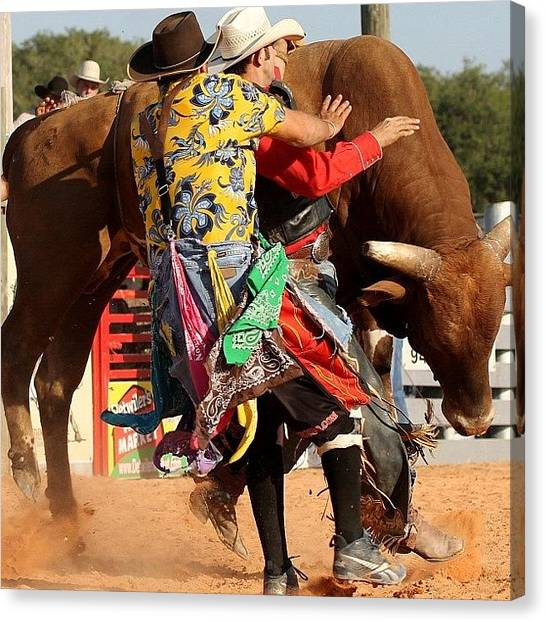 Rodeos Canvas Print - #action #all_shots #actionshot #bull by Lisa Yow