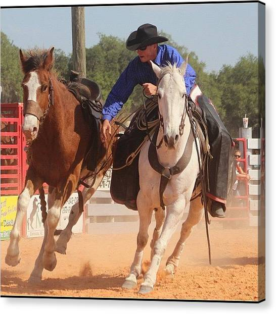 Rodeos Canvas Print - #action #all_shots #actionshot #rodeo by Lisa Yow