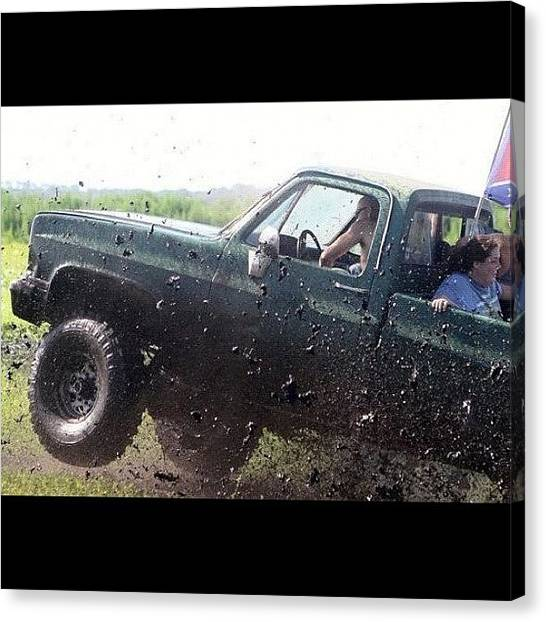 Trucks Canvas Print - #actionshot #action #mudding by Lisa Yow