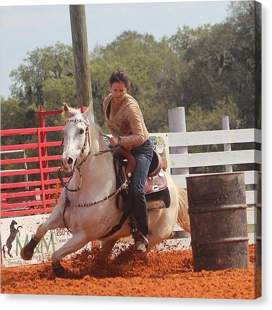 Rodeos Canvas Print - #actionshots #horsephotography by Lisa Yow