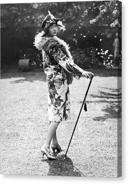 Boa Constrictors Canvas Print - Actress Jill Esmond by Underwood Archives