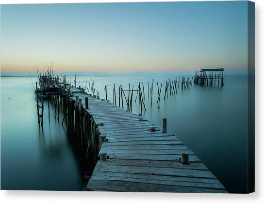Pier Canvas Print - Acuatic Sticks by Eugenio Pastor Benjumeda