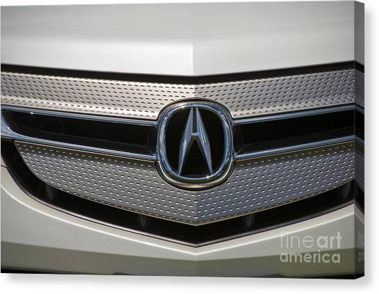 Acura Grill Emblem Close Up Canvas Print