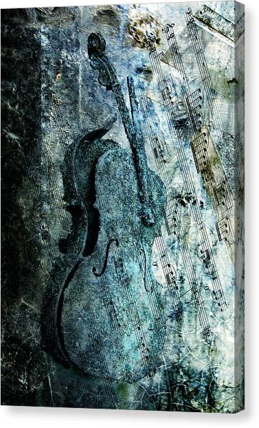 Cellos Canvas Print - Adagio For A Broken Dream by Joachim G Pinkawa