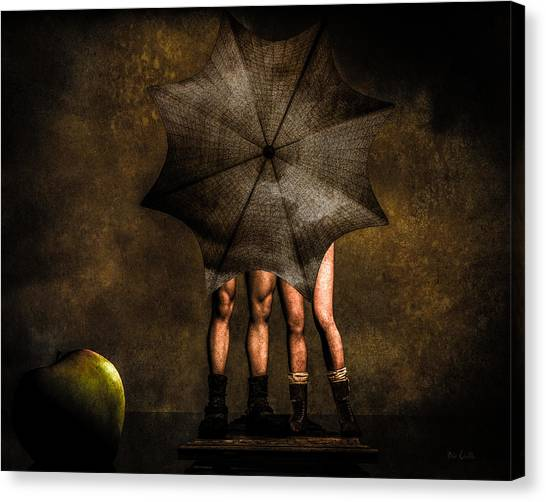 Erotic Canvas Print - Adam And Eve by Bob Orsillo