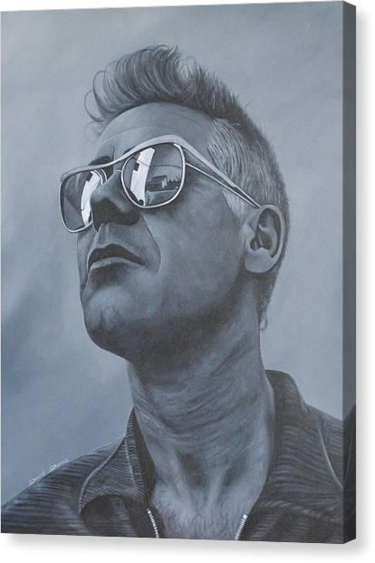 Bono Canvas Print - Adam Clayton U2 by David Dunne