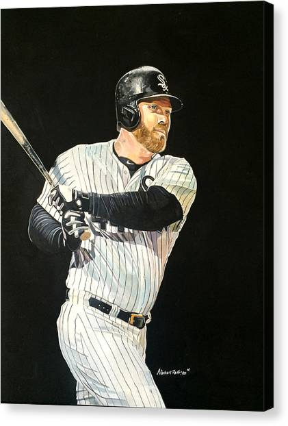 Chicago White Sox Canvas Print - Adam Dunn - Chicago White Sox by Michael  Pattison