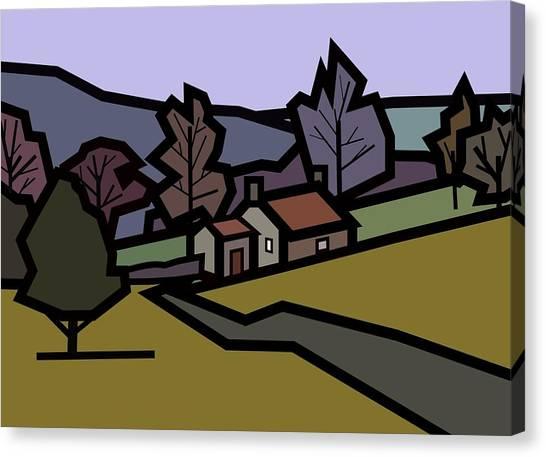 Adam's Farm Canvas Print by Kenneth North