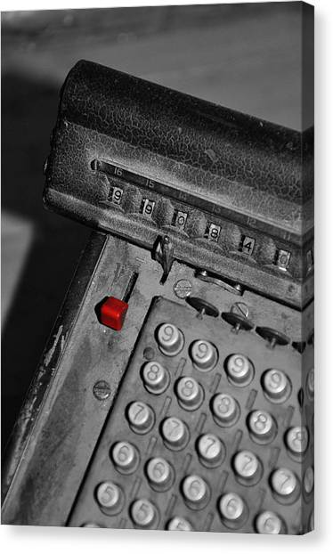 Adding Machine Three Canvas Print by Todd Hartzo