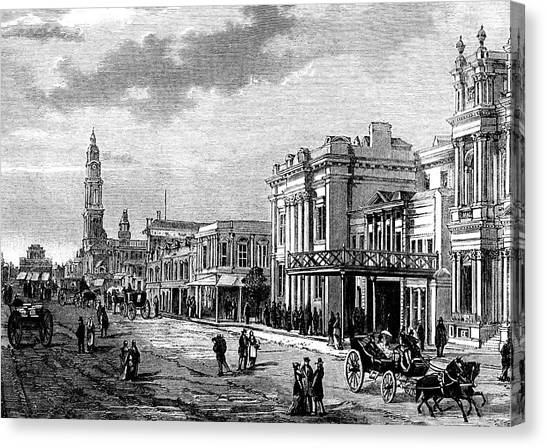 Adelaide street canvas print adelaide by collection abecasis