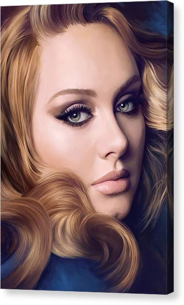 Adele Canvas Print - Adele Artwork  by Sheraz A