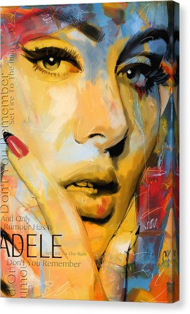 Adele Canvas Print - Adele by Corporate Art Task Force