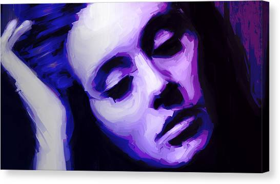 Canvas Print featuring the painting Adele by Jennifer Hotai