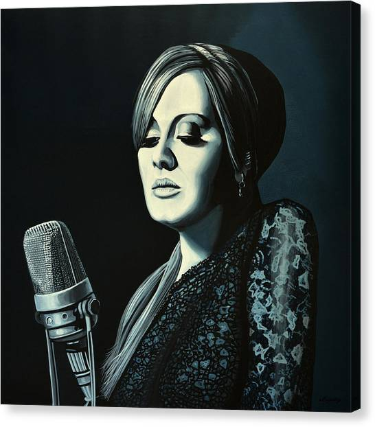 Music Canvas Print - Adele 2 by Paul Meijering