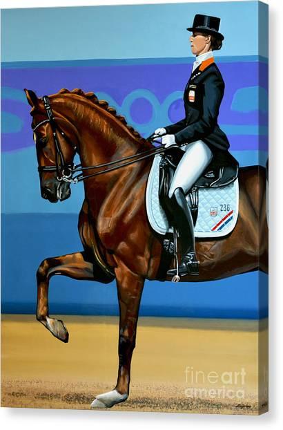 Olympic Canvas Print - Adelinde Cornelissen On Parzival by Paul Meijering