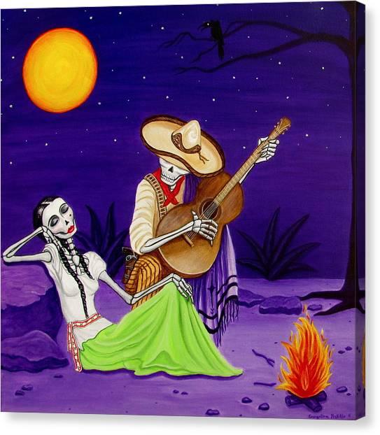 Adelita Y Juan Canvas Print