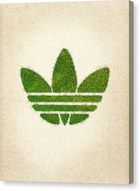 Pollution Canvas Print - Adidas Grass Logo by Aged Pixel