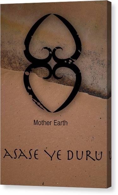 Adinkra Asase Ye Duru Canvas Print