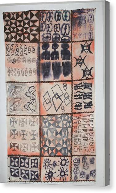 Adinkra Cloth With Bells Canvas Print