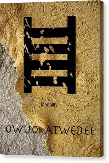Adinkra  Owuo Atwedee Canvas Print