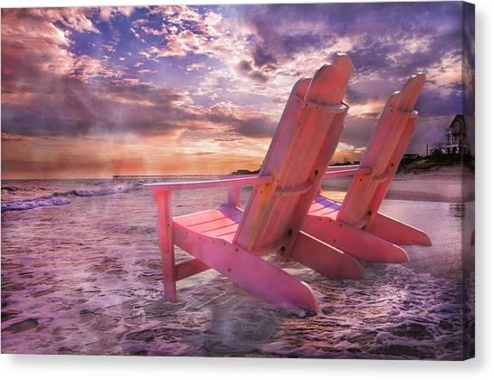 Adirondack Chair Canvas Print - Adirondack Duo by Betsy Knapp