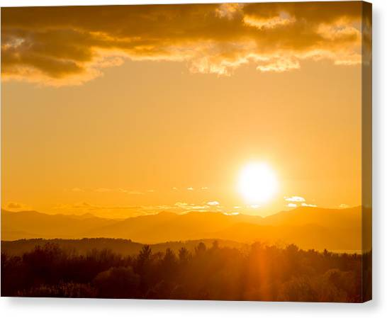 Adirondack Sunset Canvas Print by Jeremy Farnsworth
